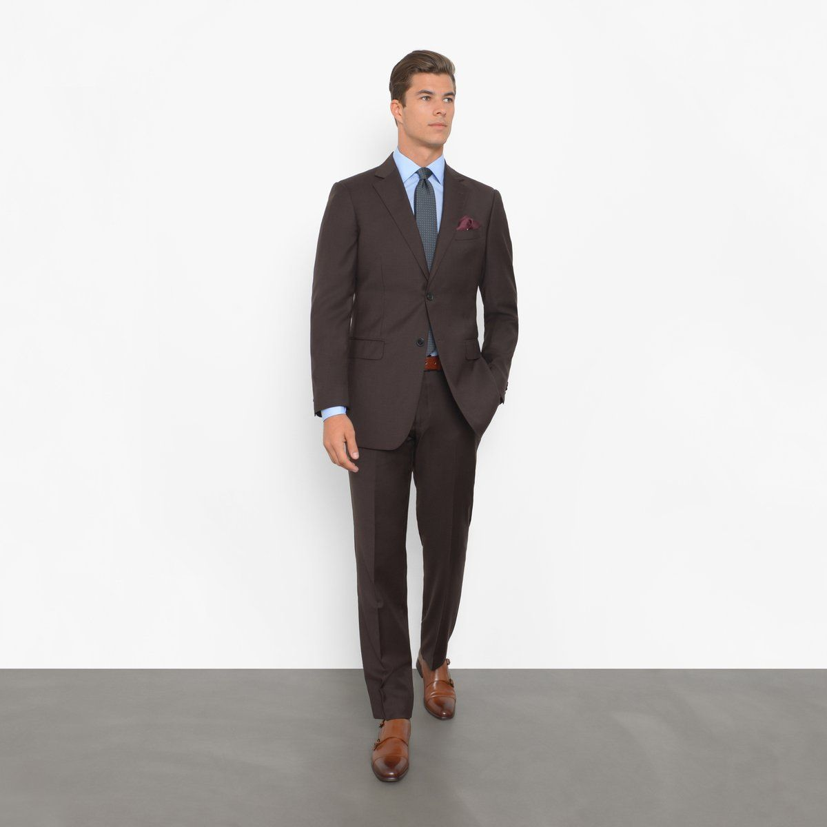a616a60f234534 Chocolate Brown Tailored Fit Suit in 2019 | Essential Suits | Fitted ...