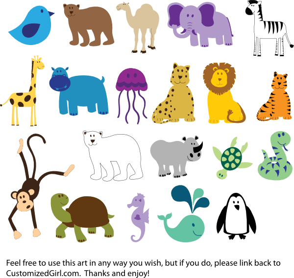 41+ Zoo Animals Clipart Free