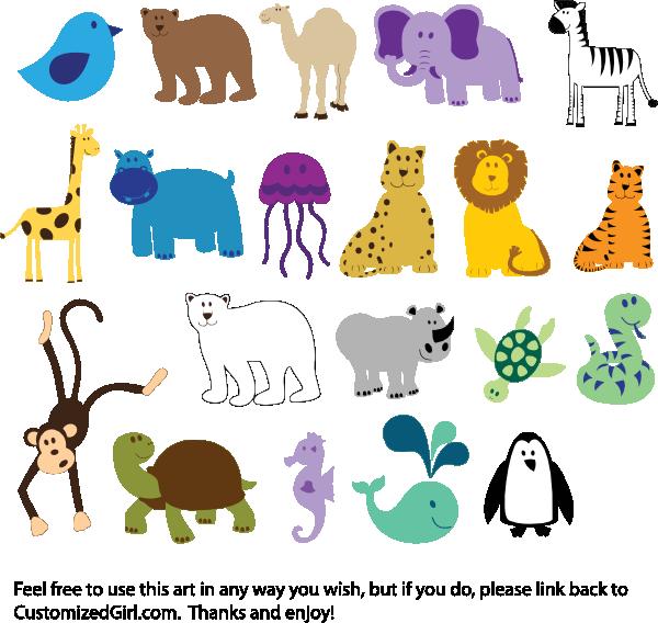 Cute Animals Clip Art Downloading Cute animal clipart