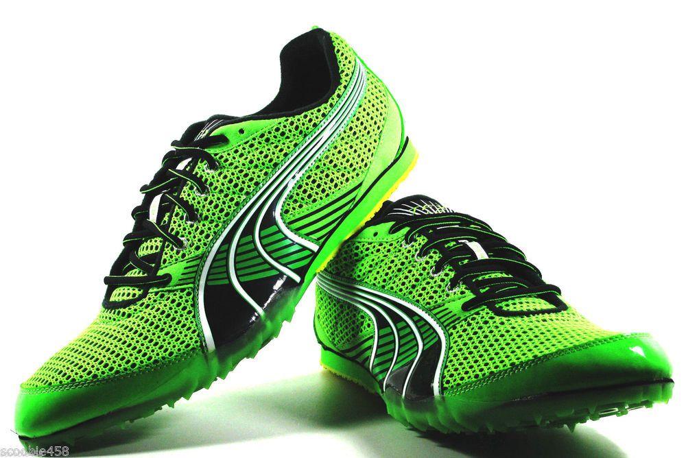 6662161bba3 Puma Complete TFX Sprint 3 Running Spikes Mens Green