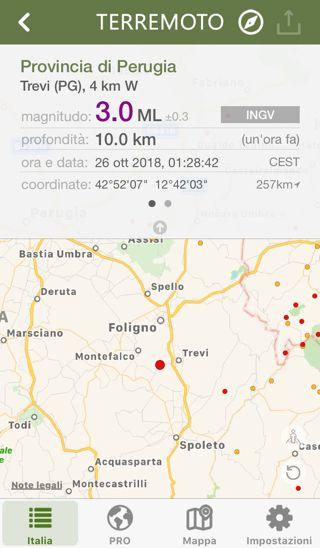 un'ora fa si è verificata una scossa sismica di intensità