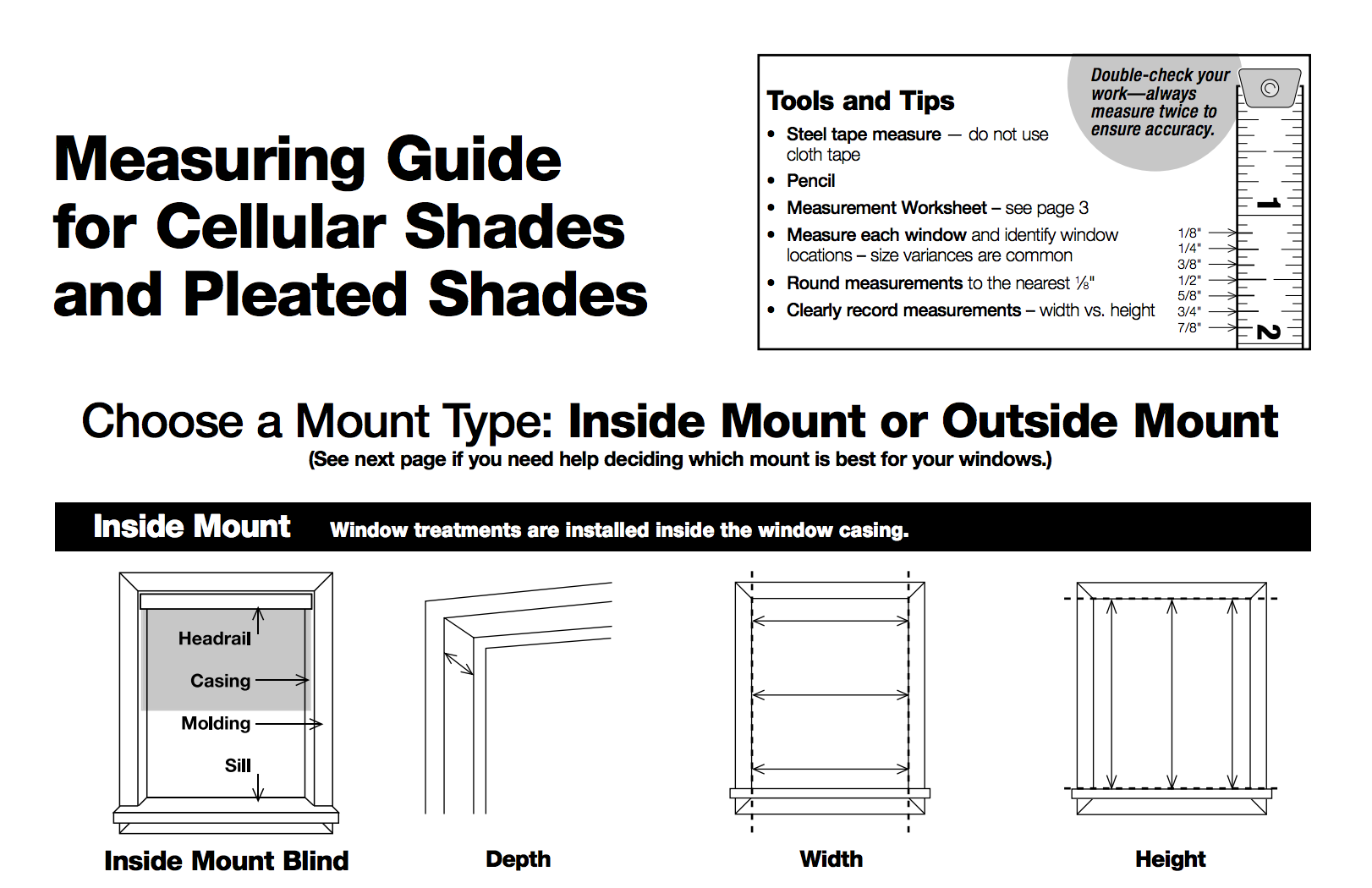 Measuring Instructions Baliblinds Com Installation Window Coverings Instruction
