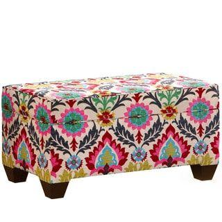 Shop For Skyline Furniture Santa Maria Desert Flower Fabric Storage Bench  In Santa Maria Desert Flower