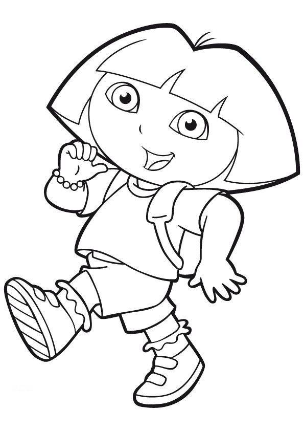 Colorear Dora la Exploradora. | Chellye | Dora coloring, Coloring