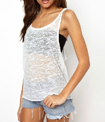 0def8c39fb0986 Open Side Tank Top For Girls