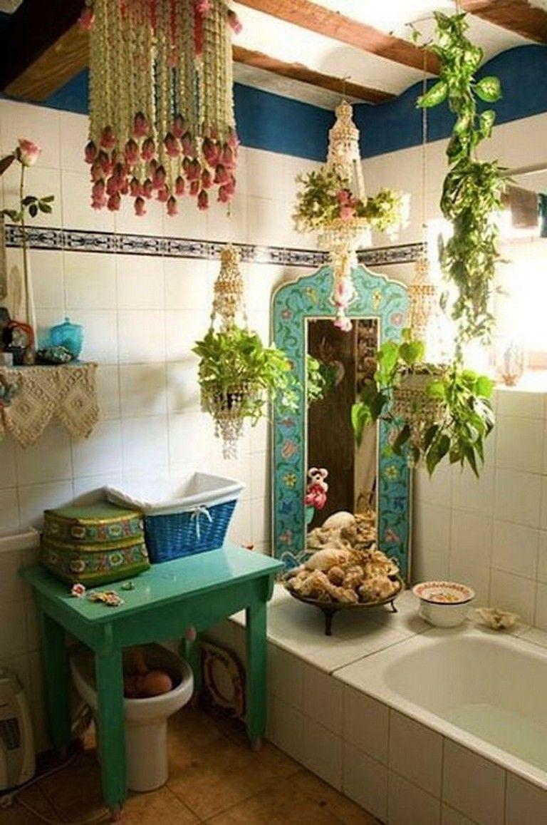 10+ Amazing Bohemian Style Bathroom Decoration Ideas