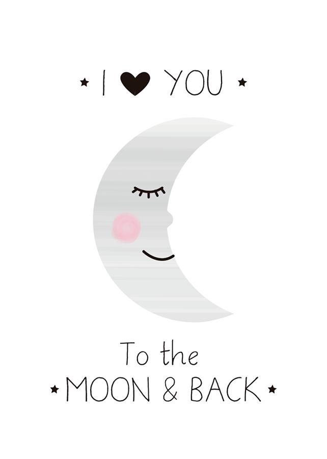 Lámina Moon, Láminas decorativas, láminas cuadros, láminas ...
