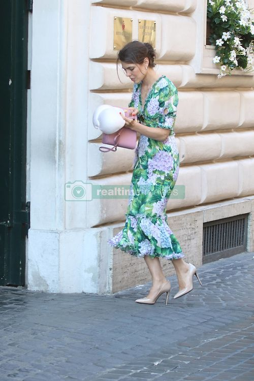 EXCLUSIVE: ***NO WEB*** Princess Charlotte Casiraghi return in Rome ...