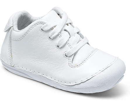 4 M US, Grey Woven Josmo Baby Walker Leather Dress Shoe