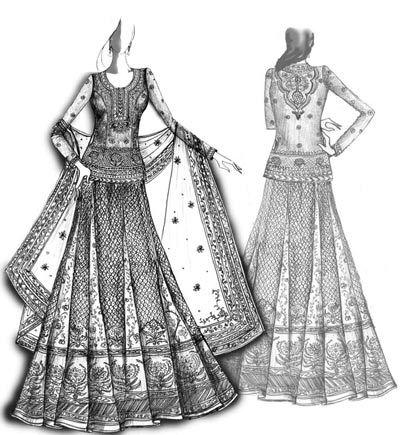 fashion design sketches of indian wedding dresses www
