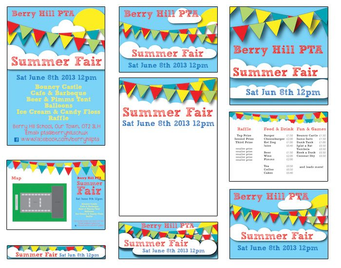 summer fair published pta templates and poster kits pta