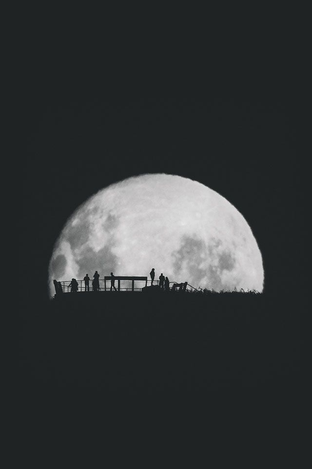wallpaper ios moon: Moon-silhouettes-2 - Parallax Iphone Wallpaper