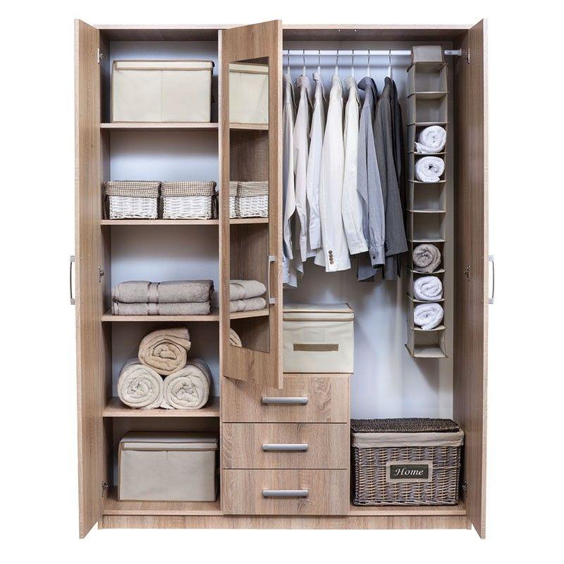 Vinderup Oak Wardrobe Closet Bedroom Drawers