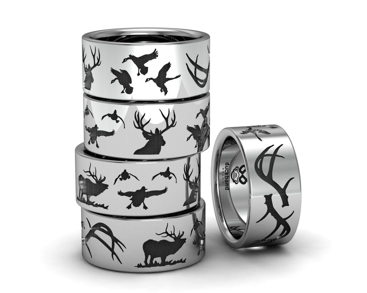 Deer wedding bands wedding bands
