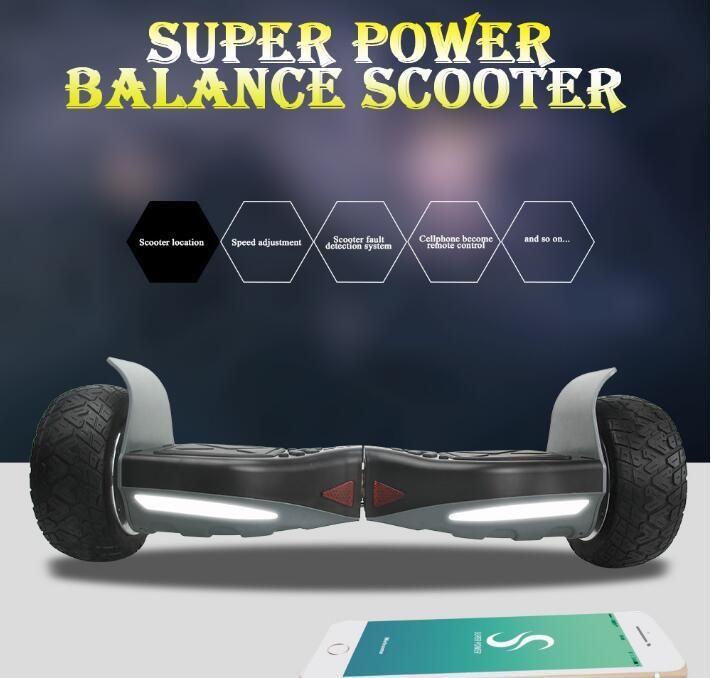 Haute Qualité 8.5 pouces hoverboard intelligente électrique app contrôle électrique planche à roulettes scooters deux roues par-dessus bord RU stock 700 w