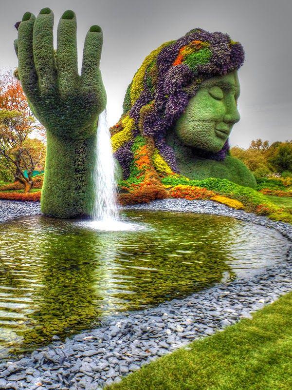 Just Beautiful, Montreal Botanical Garden, Canada. Similar Garden Statue In  The Atlanta Botanical Garden.