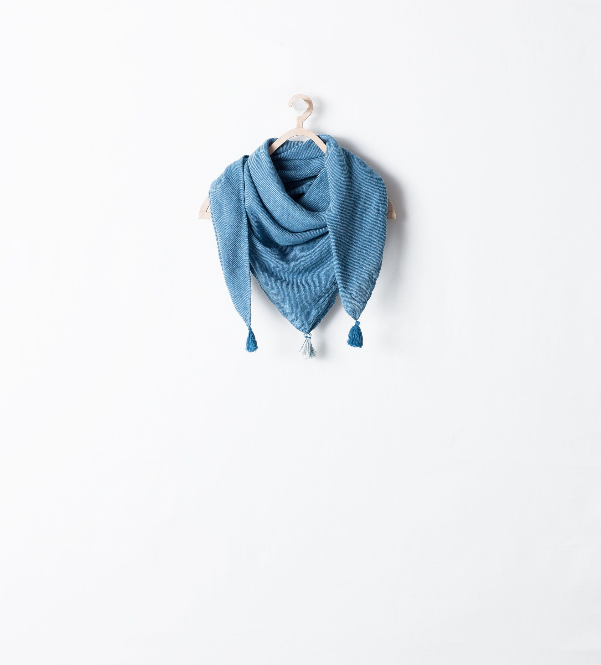 Image 1 of SCARF WITH TASSELS from Zara