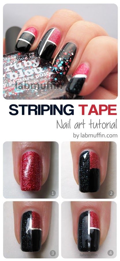 Striping Tape Nail Art Tutorial | NAIL TUTORIAL | D LIPPMANN ...