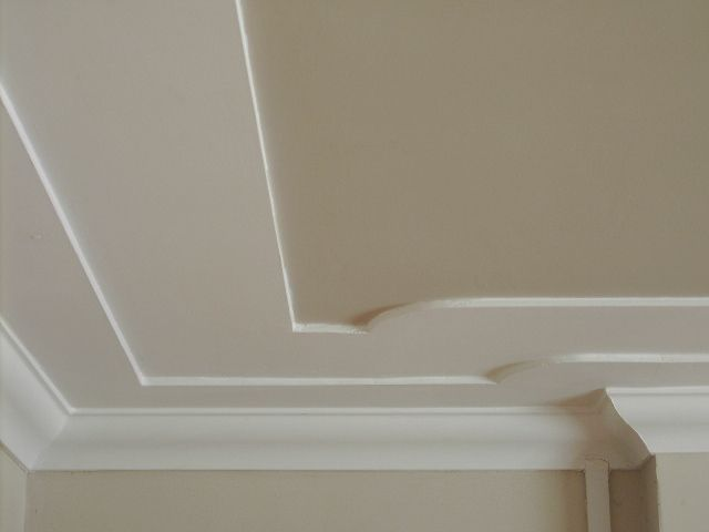 Cutting And Applying Plaster Based Cornice To Beautify