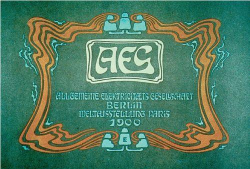Cover For An Allgemeine Elektrizitats Gesellschaft Art Nouveau Catalog Design Risograph