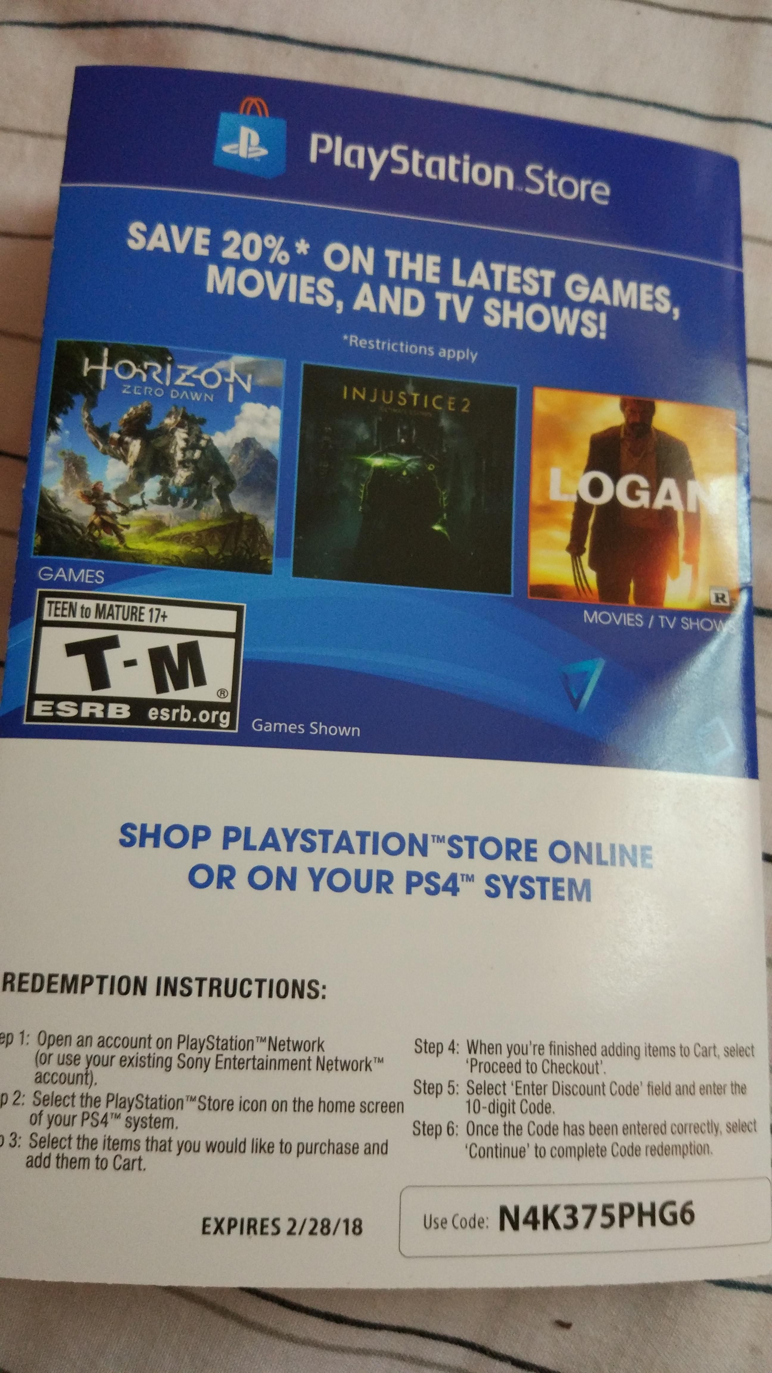 Screenshot Canada Psn 20 Off Code Apparently Is For Canadian Playstation Network Card Accounts The Brochure In French And English Playstation4 Ps4 Sony Videogames