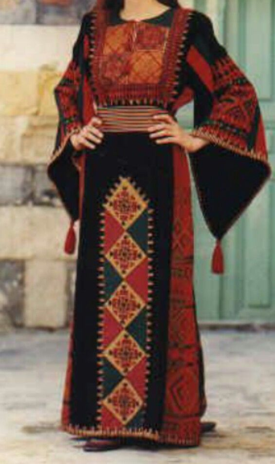 Traditional Jordanian Dress Middle Eastern Dress