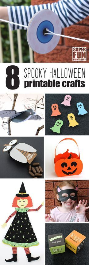 8 Spooky printable Halloween craft ideas for kids Blätterstanz - halloween kids craft ideas