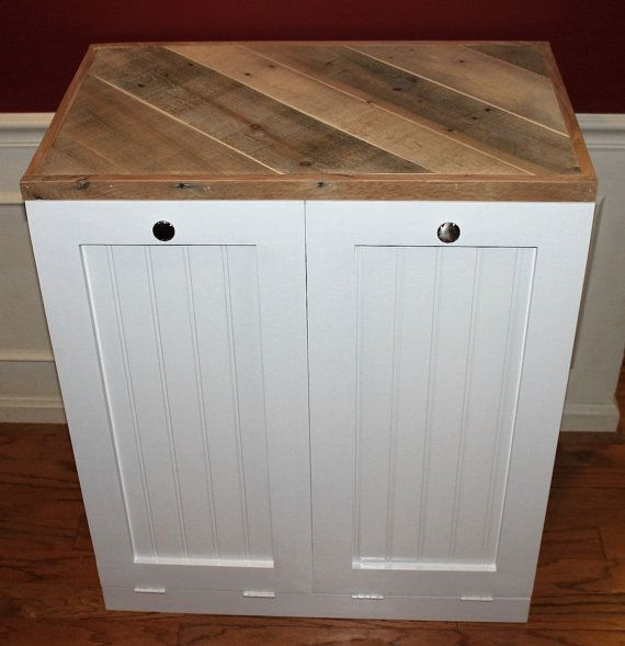 This is a custom made Dual Tilt Out Trash Bin. It comes in ...