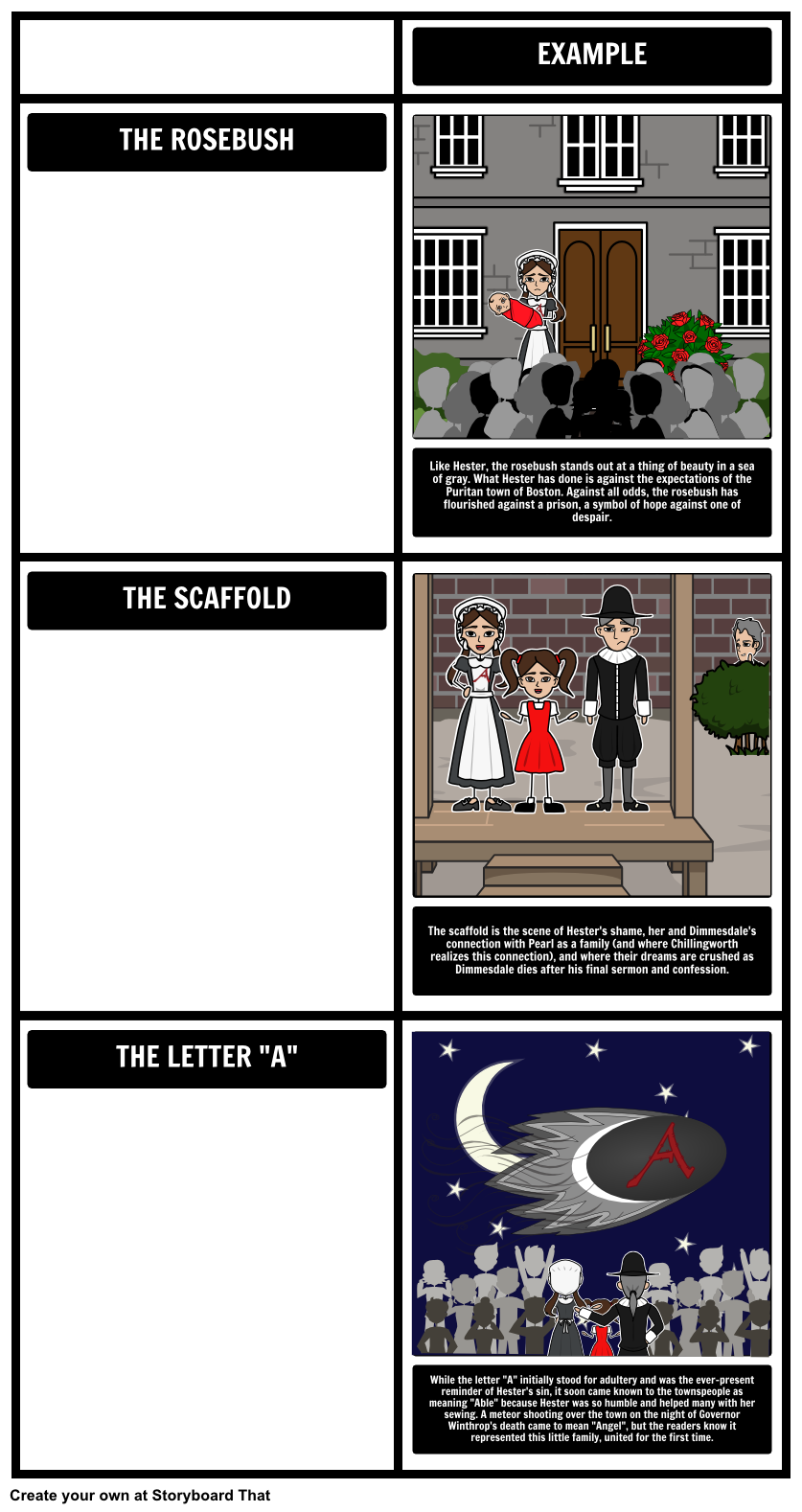 Themes symbols and motifs come alive when you use a storyboard in the scarlet letter essay dimmesdale full glossary for the scarlet letter essay the symbols in the scarlet letter because the when he sees the scarlet buycottarizona Images