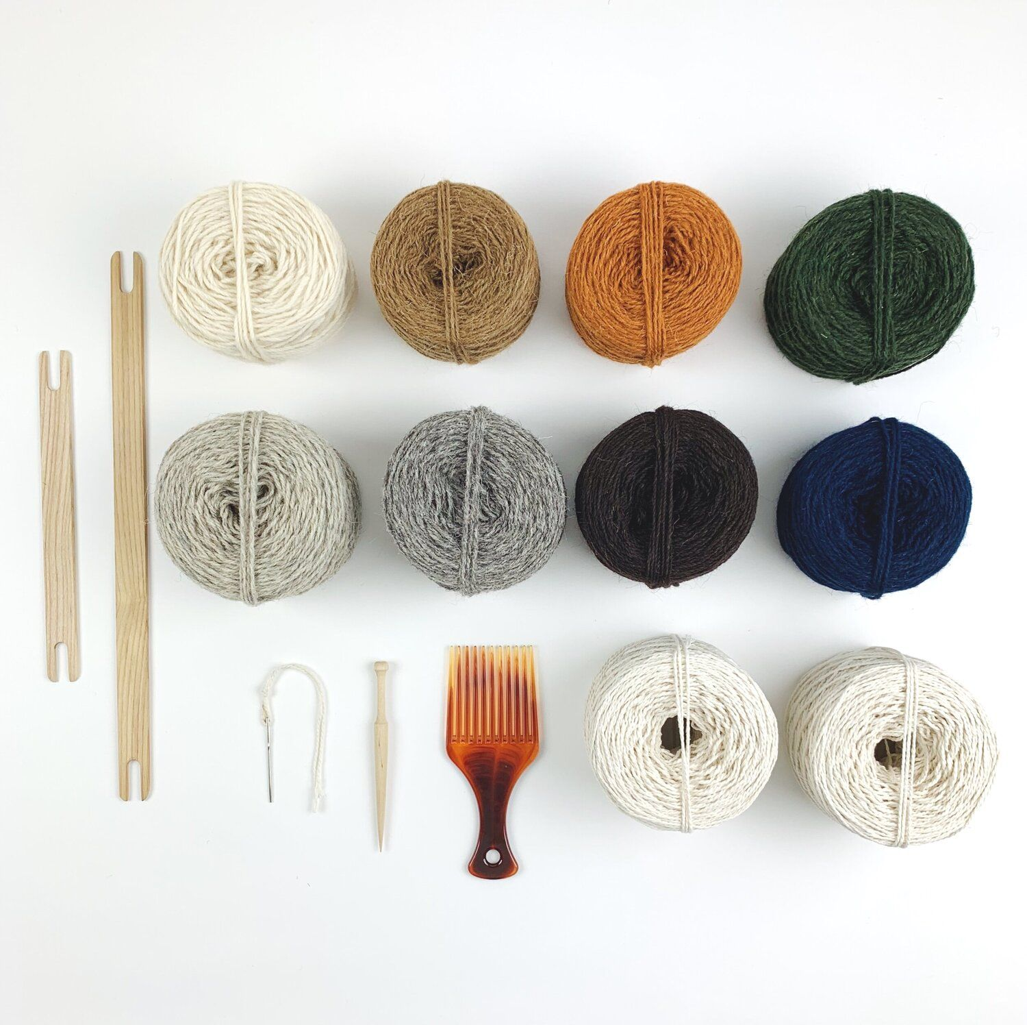 A kit to accompany my Rug Loom! It contains everything you need to get started on weaving your very own rug, including warp yarn, weaving tools and rug wool.  #handweaving #weavingloom #tapestryweaving #onmyloom #handwoven #britishcraft #slowmade #christabelbalfour #beautifulinteriors #wovenwallhanging #loomweaving #geometrictapestry #geometric #wovenart #fibreart #fibreartist #weaving #weavingloom #rugweaving