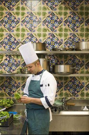 Italy - Campania  what a gorgeous restaurante kitchen