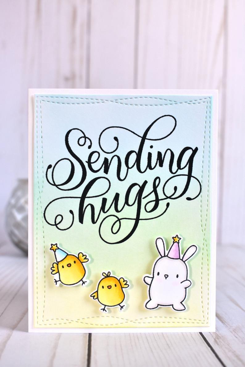 handmade bunny encouragement card cute long distance card