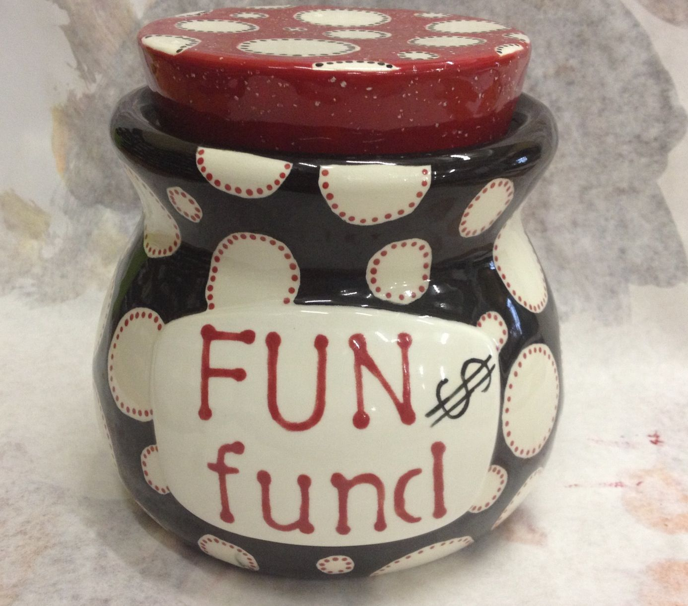 Fun Fund Grown Up Piggy Bank Paint Your Own Pottery Pottery Crafts Pottery Painting