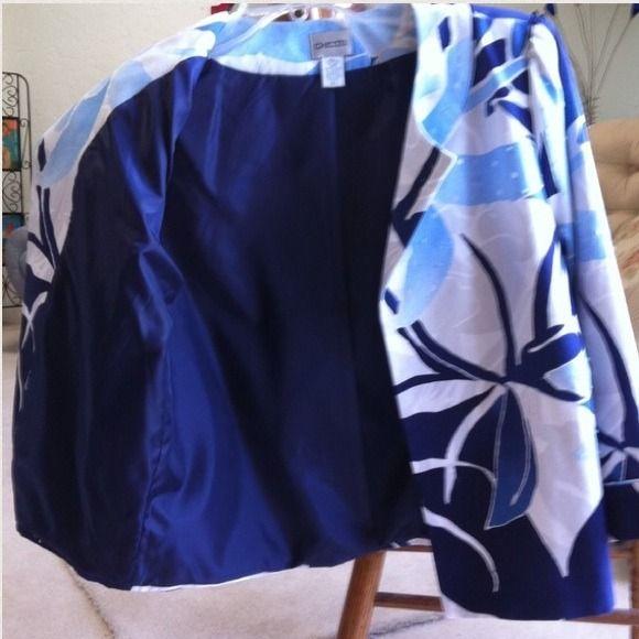 Jacket Blue and white jacket Chico's Jackets & Coats