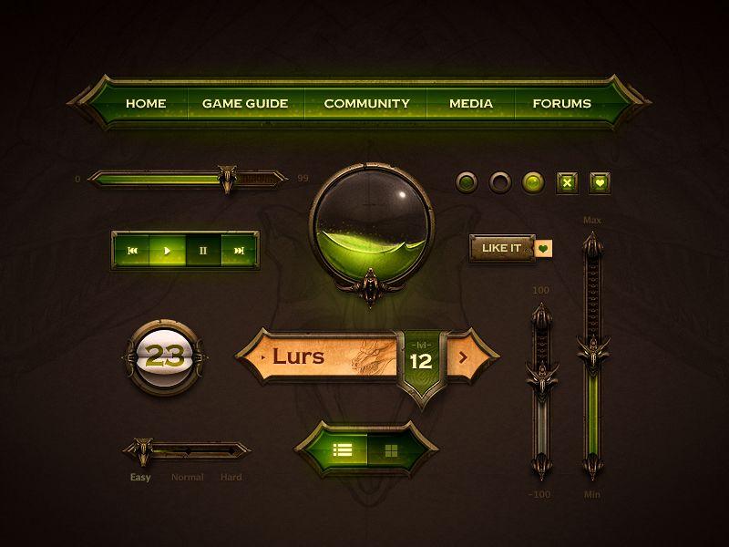Brilliant Examples Of Skeuomorphic UI Design GUI Pinterest - Game ui design