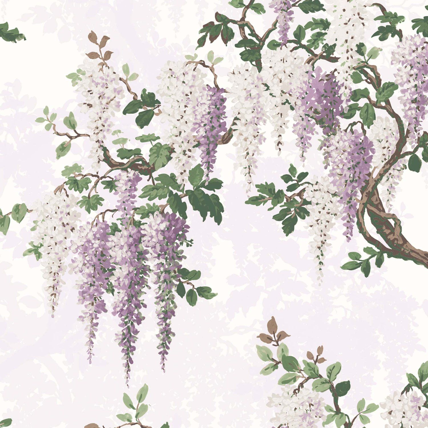 Wisteria Lilac Floral Wallpaper In 2020 Pink Wallpaper Black