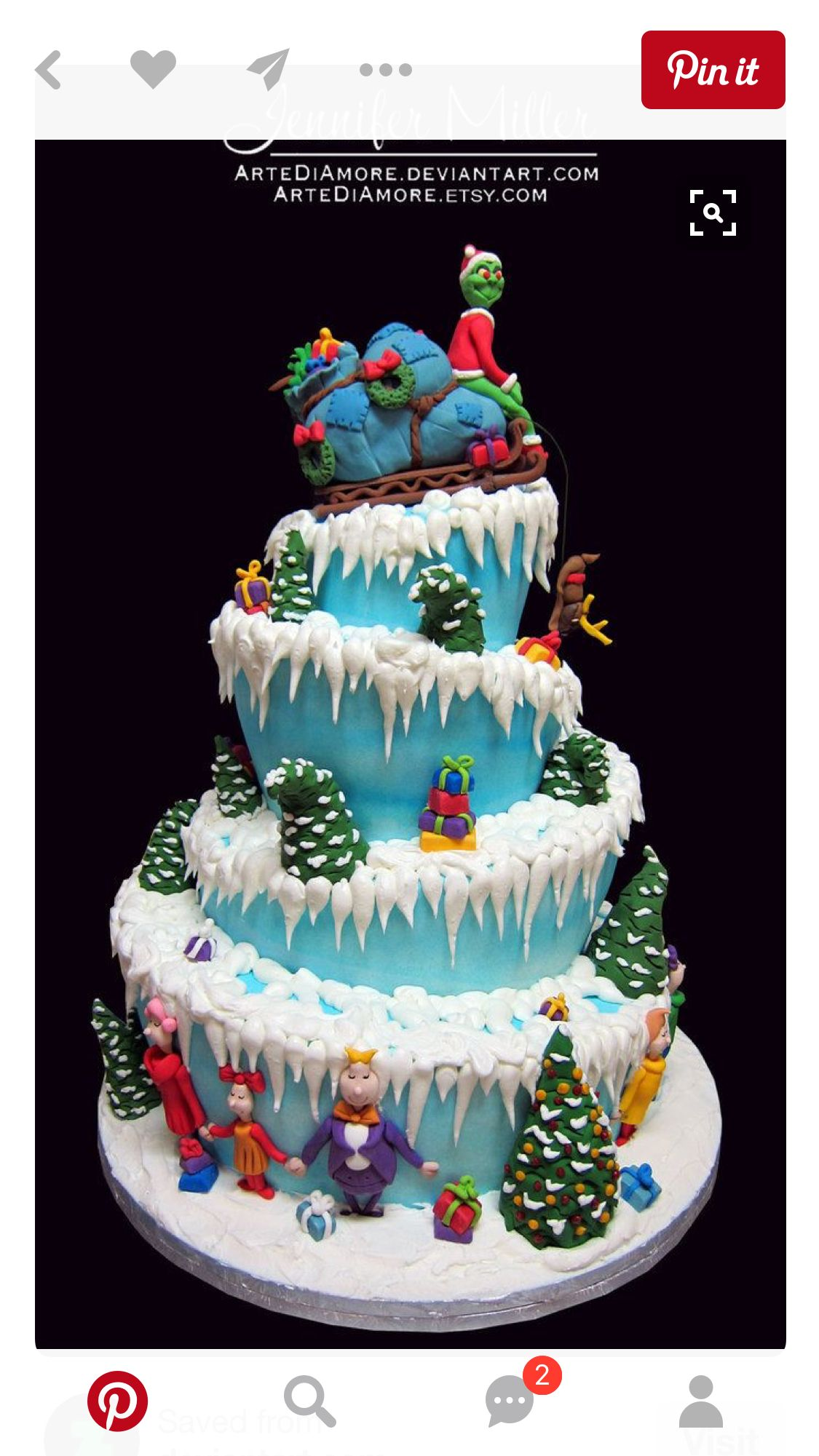 Pin By Lueanne Martin On Treasured Holidays Christmas Cake Grinch Cake Holiday Cakes