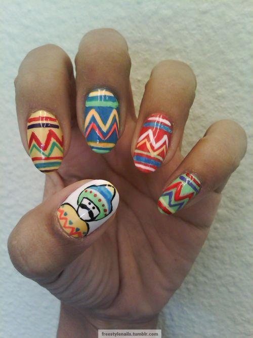 Más de 25 fotos de uñas decoradas con los colores de México ...