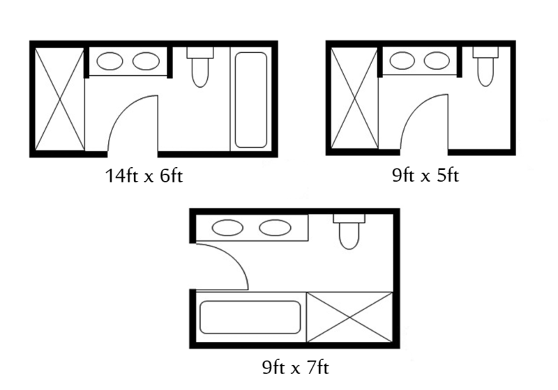 Image result for 6-ft. by 9-ft. bathroom layouts ...