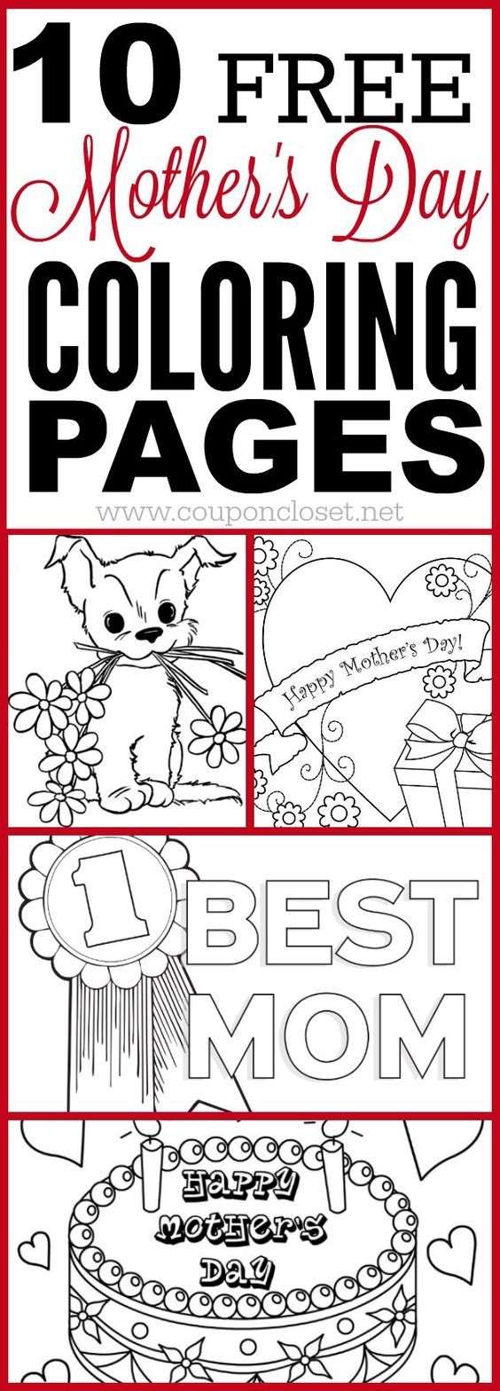 10 FREE Mother\'s day Coloring Pages