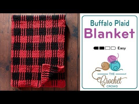 How to Crochet A Plaid Blanket - YouTube | crocheting | Pinterest ...