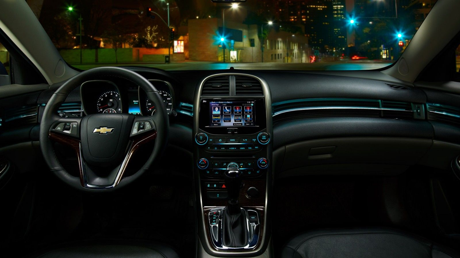 A Jet Black Interior With Ambient Lighting And Chevrolet Mylink