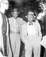 On May 26, 1956 Florida AM Students Carrie Patterson and Wilhemina Jakes were arrested in Tallahassee for refusing to give up their bus seats. NAACP officials CK Steele and Edwin Norwood (shown) begin negotiations with city officials as students launch a year-long bus boycott. Timeline: http://www.tallahassee.com/legacy/special/boycott/timeline.html #TodayInBlackHistory