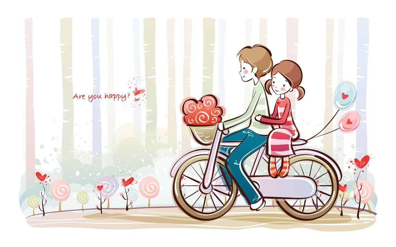Valentine Day Wallpaper 9 Art Bicyles Pinterest Love Love