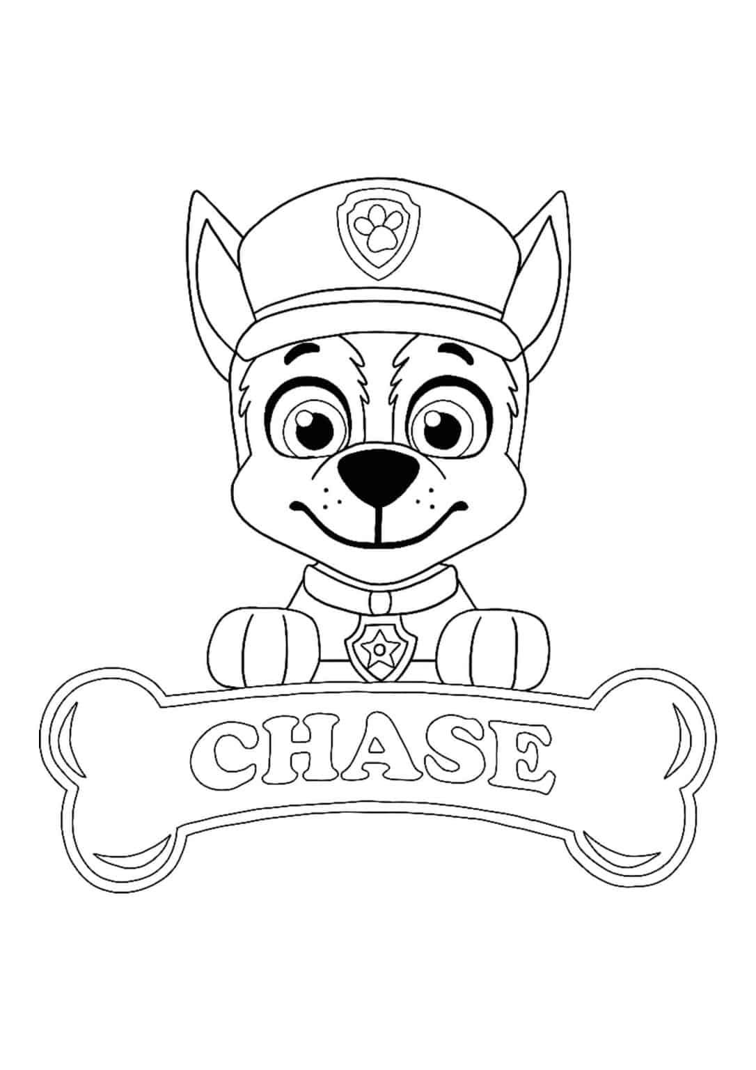 49+ Paw patrol chase badge coloring page info