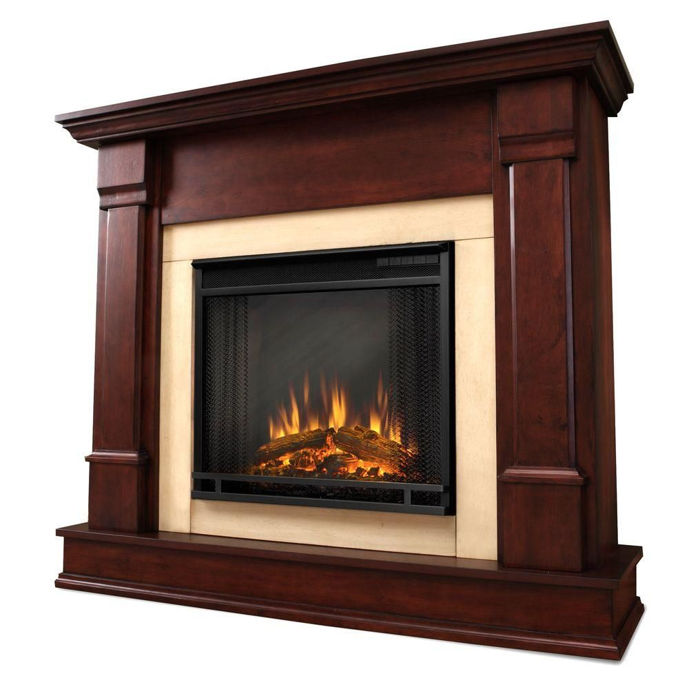 real flame silverton 48 in electric fireplace in dark mahogany rh pinterest com