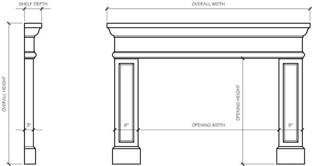 danielle fireplace surround line drawing fireplaces fireplace rh pinterest com