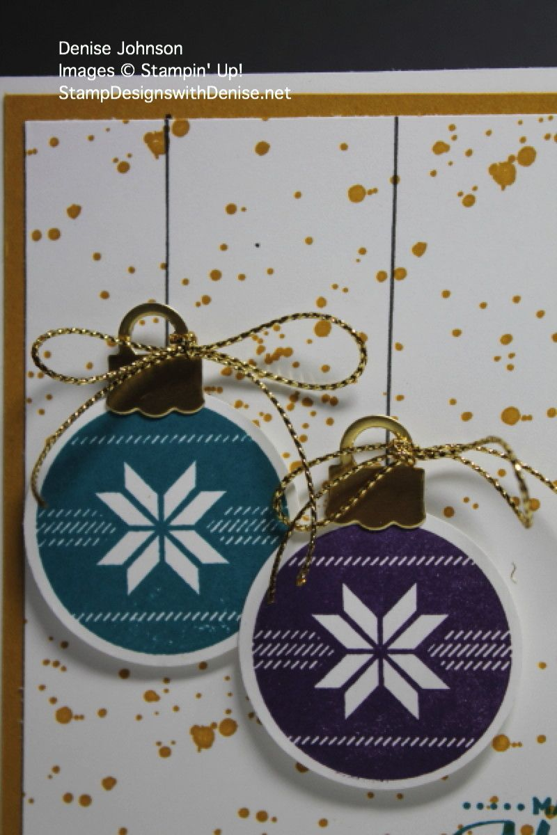 Lots of Joy Color Challenge - CCMC382   Ornament card ...