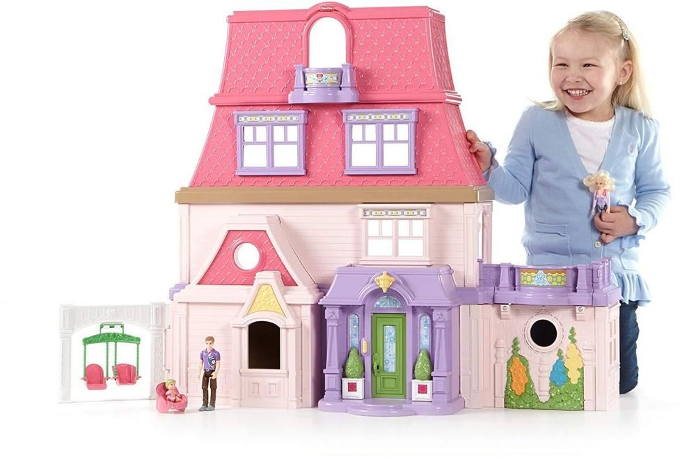 fisher price dollhouse girls kids large play set 4 floor toy rh pinterest com