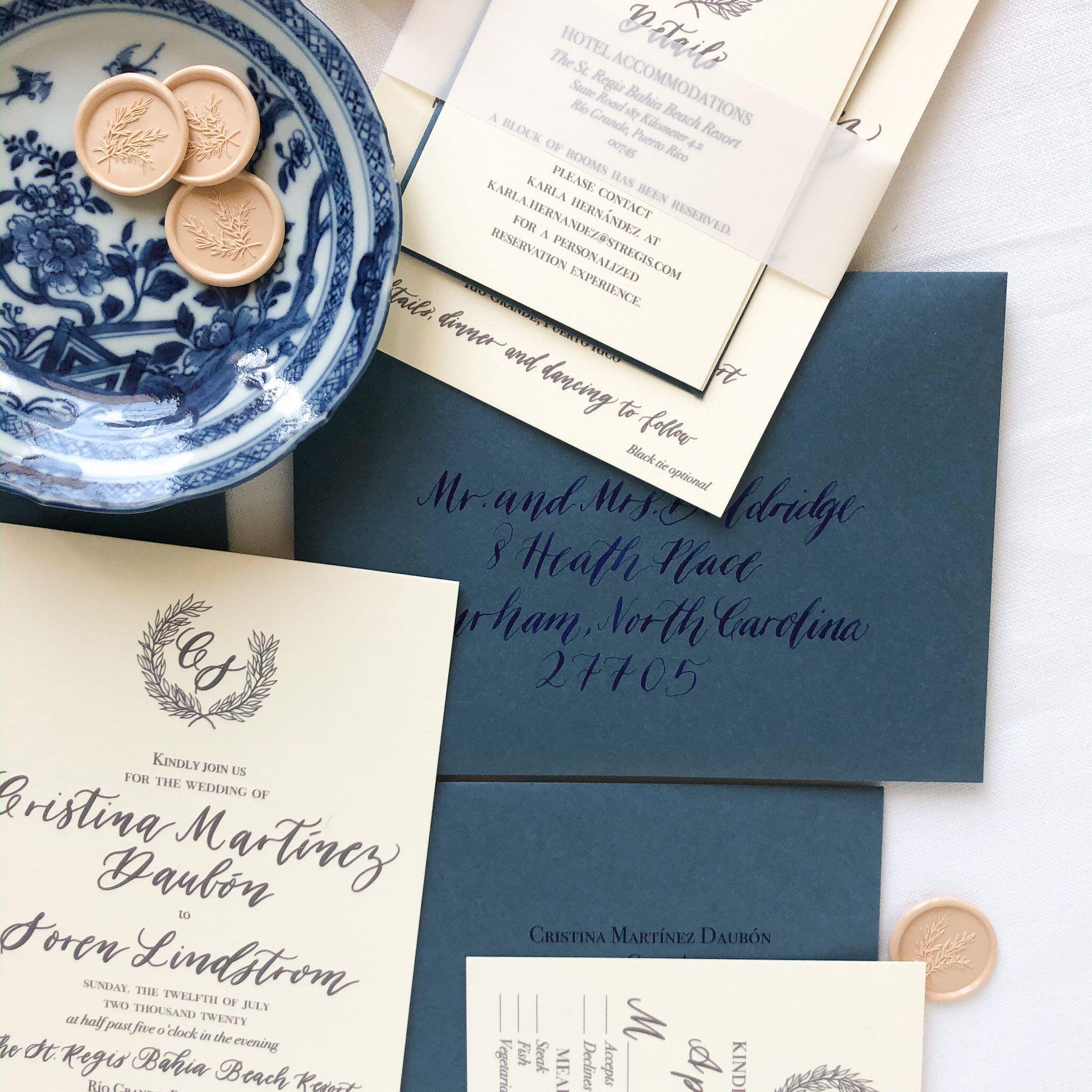 Blue And White Wedding Invitation In 2020 Wedding Invitations Wedding Stationery Fall Wedding Invitations